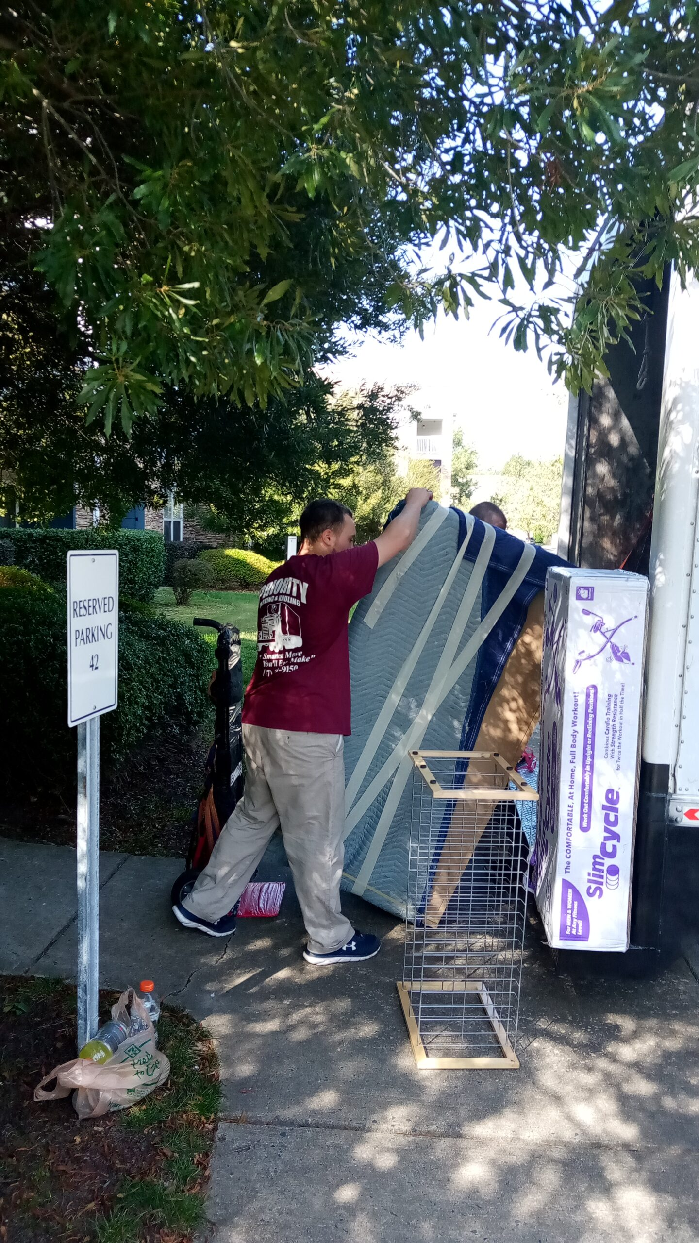 Loading of Heavy Furniture Into the Truck