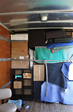 Client's Things Carefully Placed Inside the Truck